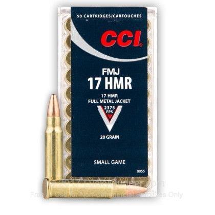 CCI .17 HMR 1,29G FMJ art.17-HMR-FMJ