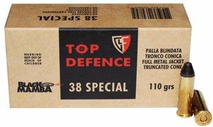 .38 Special Fiocchi 110gr Black Mamba FMJ